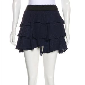 DEREK LAM Navy Blue Asymmetrical Skirt